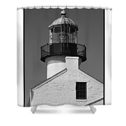 The Guardian To San Diego Bay Shower Curtain by Kirt Tisdale