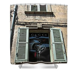 The Gucci Window Shower Curtain