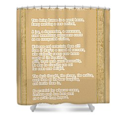 Shower Curtain featuring the digital art The Guest House Poem By Rumi by Celestial Images