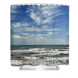 The Gulf Of Mexico From Galveston Shower Curtain
