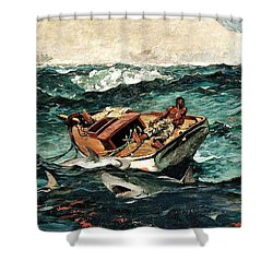 Shower Curtain featuring the painting The Gulf Stream by Roberto Prusso