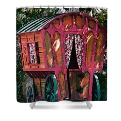 The Gypsy Caravan  Shower Curtain