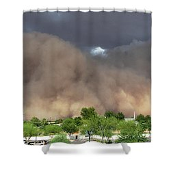 The Haboob Is Coming Shower Curtain by Natalie Ortiz