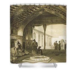 The Hall Of Mirrors In The Palace Shower Curtain by Grigori Grigorevich Gagarin