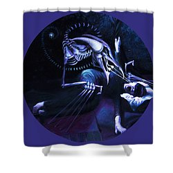 The Hallucinator Shower Curtain by Shelley  Irish