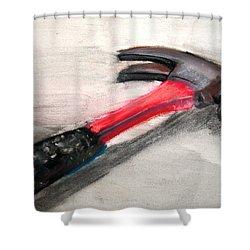 The Hammer Shower Curtain by Ryan Burton