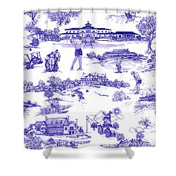 The Hamptons Historical Golf Courses Shower Curtain by Kimberly McSparran