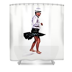 The Happy Dance Shower Curtain by Xn Tyler