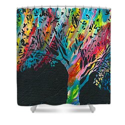 The Happy Tree Shower Curtain