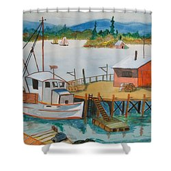 The Harbour Shower Curtain