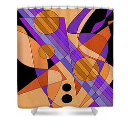 Electric Harp Shower Curtain