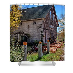 The Harvest Is In Shower Curtain by Jeff Folger