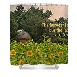 The Harvest Is Plentiful Shower Curtain