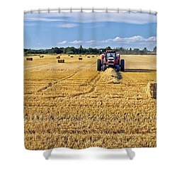 The Harvest Shower Curtain by Keith Armstrong