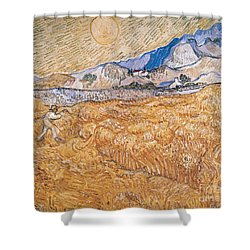 The Harvester Shower Curtain by Vincent Van Gogh