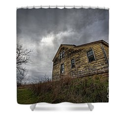 The Haunted Color Shower Curtain by Michael Ver Sprill