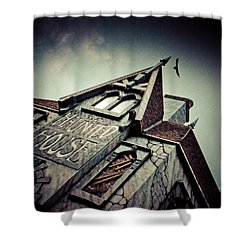 The Haunted House  Shower Curtain by Eti Reid