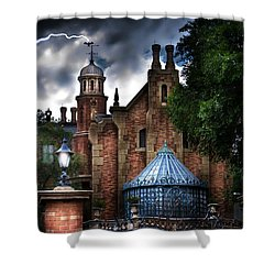 The Haunted Mansion Shower Curtain by Mark Andrew Thomas