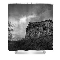 The Haunted Shower Curtain by Michael Ver Sprill