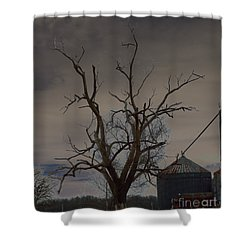 The Haunting Tree Shower Curtain