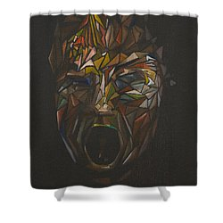 The Head Of Goliath - After Caravaggio Shower Curtain