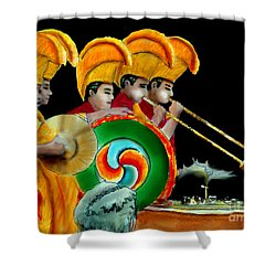 The Healing Ceremony Shower Curtain by Albert Puskaric