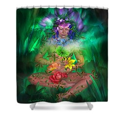 The Healing Garden Shower Curtain by Carol Cavalaris