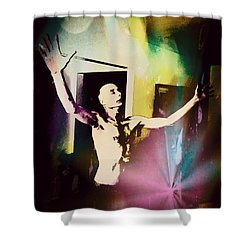 The Healing Shower Curtain by Michael  TMAD Finney