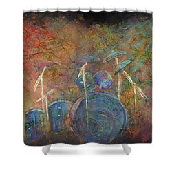 The Heart Beat  Shower Curtain