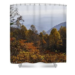 The Heart Of Autumn Shower Curtain by Lynn Bauer