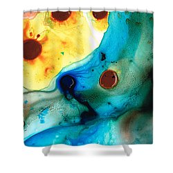 The Heart's Desire - Colorful Abstract By Sharon Cummings Shower Curtain by Sharon Cummings