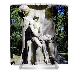 The Henry Villard Memorial Shower Curtain by Ed Weidman