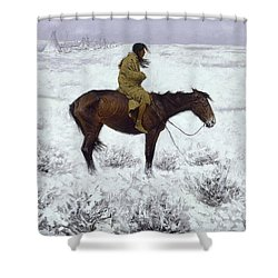 The Herd Boy Shower Curtain by Fredrick Remington