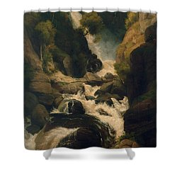 The Heron Shoot, C.1800 Shower Curtain by English School