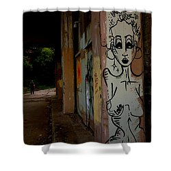 The Higher The Hair The Closer To Heaven - Babs Shower Curtain by Jacqueline Athmann