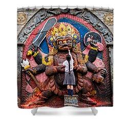The Hindu God Shiva Shower Curtain