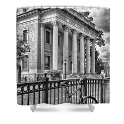 Shower Curtain featuring the photograph The Hippodrome Theatre by Howard Salmon