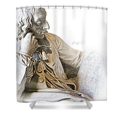 The Historian Shower Curtain by Evie Carrier