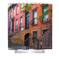 The Historic Brownstones Of Brooklyn Shower Curtain