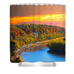 The Hobo Train Up The Mississippi Shower Curtain