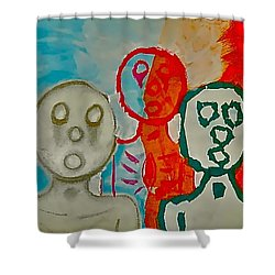 The Hollow Men 88 - Study Of Three Shower Curtain