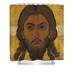 The Holy Face Shower Curtain by Novgorod School