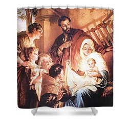 The Holy Family Shower Curtain by Unknown
