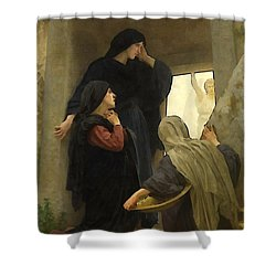 The Holy Women At The Tomb Shower Curtain by William Bouguereau