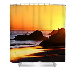 The Honeymoon Sunset  Shower Curtain