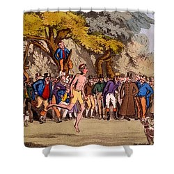 The Hopping Match On Clapham Common Shower Curtain by English School