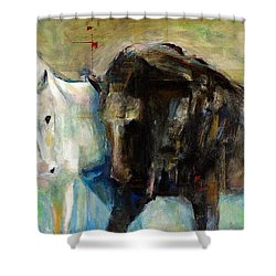 The Horse As Art Shower Curtain by Frances Marino