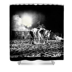 Shower Curtain featuring the photograph The Horse That Suffered  by Stwayne Keubrick