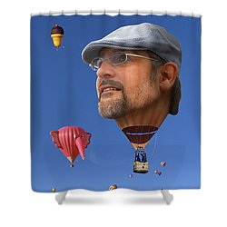 The Hot Air Surprise Shower Curtain by Mike McGlothlen