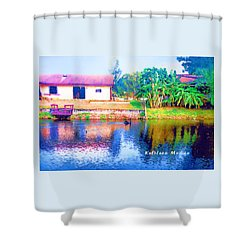 The House Across The Way Shower Curtain